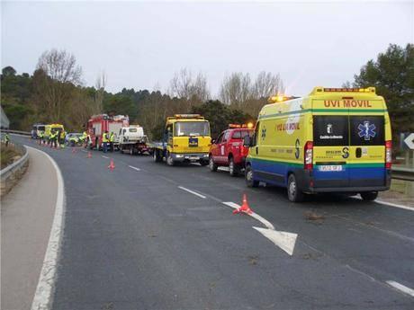 Fallece una persona en Cañaveras tras volcar el vehículo que conducía