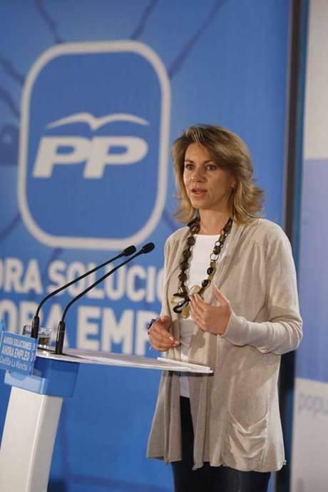 Cospedal reitera como objetivo del PP apostar por los emprendedores para que puedan crear puestos de trabajo