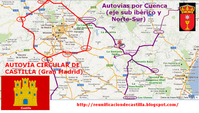 Propuesta de autovías por Cuenca que mejora la proyectada autovía del Júcar