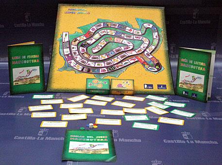 La Junta fomenta el hábito lector entre el público infantil, a través del juego de mesa 'Manchuteka'  elaborado por bibliotecarios de la Manchuela conquense