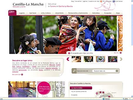El portal de turismo de Castilla-La Mancha recibió en 2010 más de 2,7 millones de visitas, un 25% más que en 2009