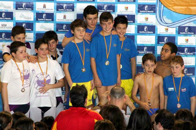 Los infantiles del SVAT de Tarancón se hacen en Guadalajara con el título de campeones de Castilla-La Mancha en el regional de salvamento y socorrismo