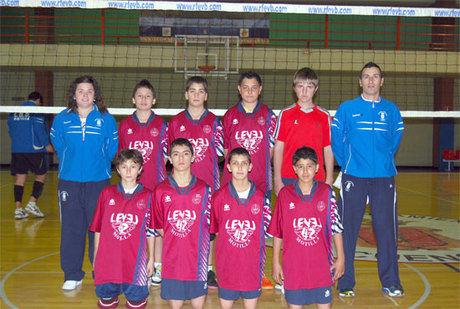 Concentración de voleibol masculino en la capital