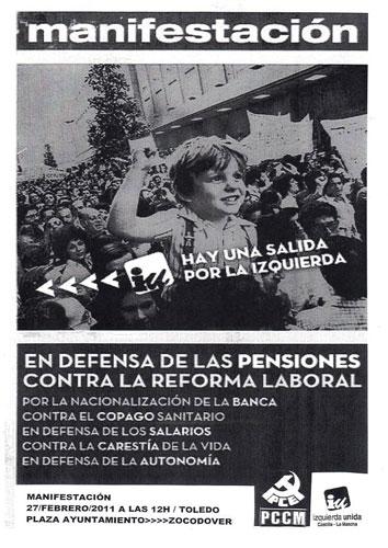 El PCE  de Cuenca llama a los conquenses a manifestarse en Toledo