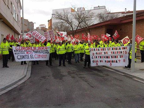 El transporte sanitario de CLM protesta ante la modificaciones laborales anunciadas por la empresa