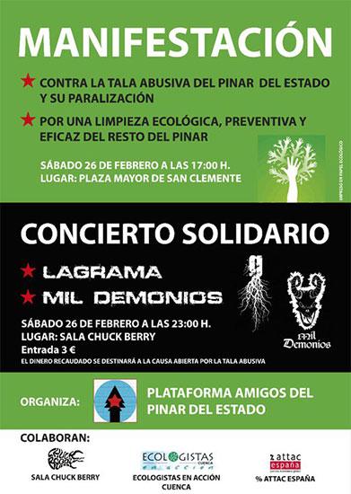 Los vecinos de San Clemente protestarán este sábado en defensa de su pinar