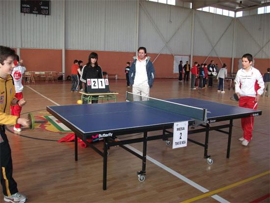 Tenis de mesa zona de Sisante