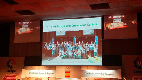 El Club Piragüismo Cuenca con Carácter premiado en la gala nacional de piragüismo