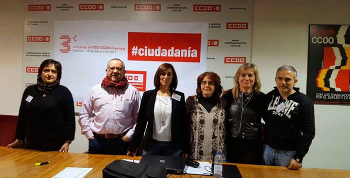Lucía Garrido, reelegida secretaria general de la Federación de Servicios a la Ciudadanía de CCOO-Cuenca