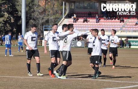 Nacho otorga al Conquense una victoria in extremis ante el Azuqueca (2-1)