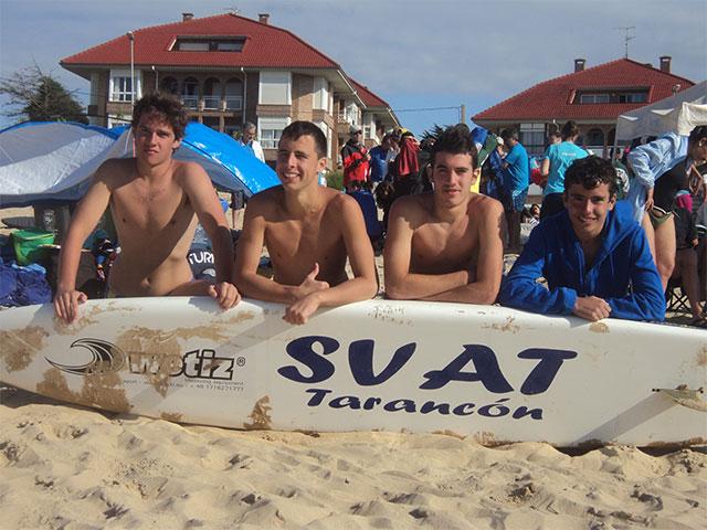 Buena actuación la de los cuatro socorristas del Club de Salvamento SVAT Tarancón en el Campeonato de España de Salvamento Juvenil y Junior