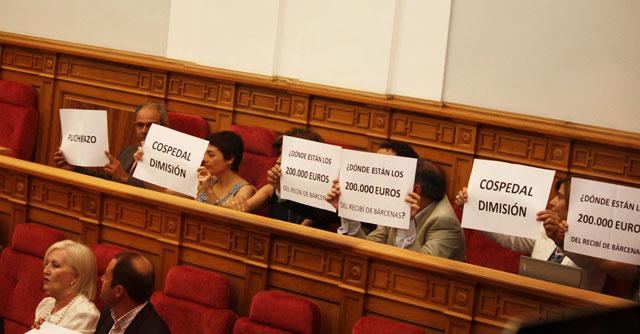 El Grupo Socialista presenta un escrito pidiendo la dimisión de Cospedal y la convocatoria de elecciones en C-LM