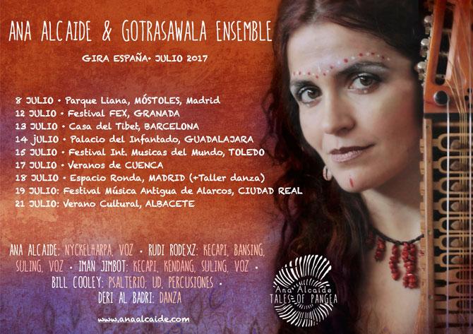 La esencia de Java llega a 'Veranos en Cuenca' de la mano de Ana Alcaide y su proyecto 'Tales of Pangea: Gotrasawala Ensemble'