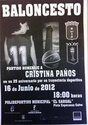 Partido homenaje a la ex jugadora del CB Cuenca Cristina Paños