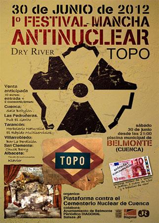 El 30 de junio se celebrará el Primer Festival Mancha Antinuclear en Belmonte