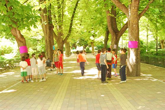 Los paseos del Vivero se convierten en una sala de exposiciones para los niños del colegio de Santa Ana.