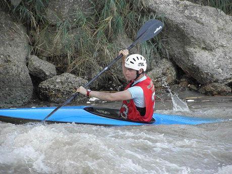 Participación del Club de Piragüismo Las Grajas  en la copa andaluza de slalom