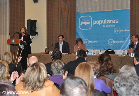 Ana Botella destaca en Cuenca la importancia de las próxima elecciones del 22 de mayo