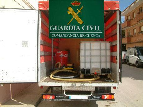 La Guardia Civil detiene a cuatro personas como presuntos autores de robo de gasoil en Barajas de Melo