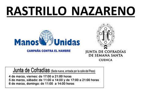 La Junta de Cofradías participa junto a Manos Unidas en la realización de un rastrillo benéfico