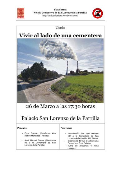 Nuevo acto informativo de la plataforma contra la cementera de San Lorenzo de la Parrilla