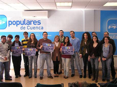NNGG da a conocer en Cuenca la campaña 'Cospedal+PP = Jóvenes+Empleo'