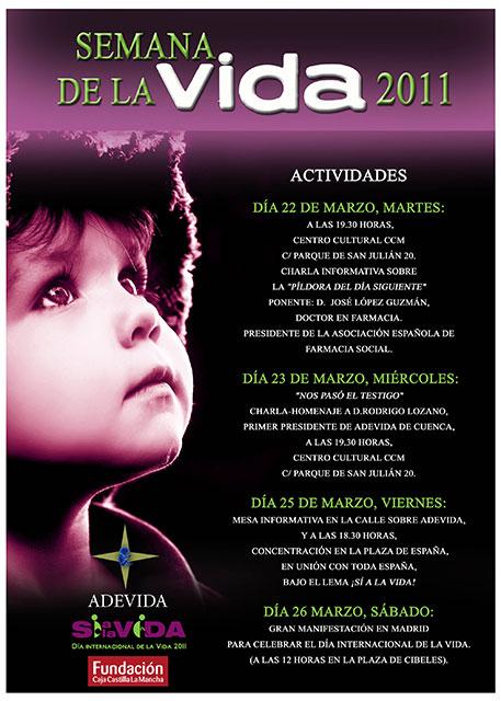 La Diócesis de Cuenca celebra la semana de la vida