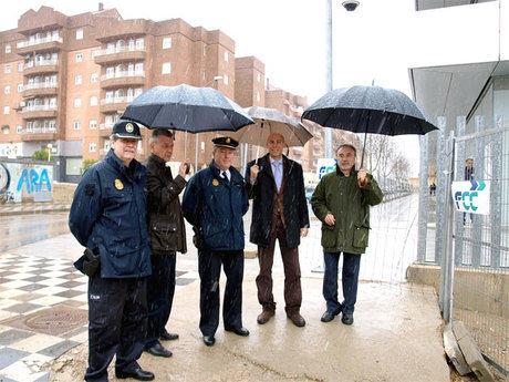 Visita de técnicos de la Dirección General de la Policía y la Guardia Civil al solar donde se ubicará la futura Comisaría de la Policía Nacional