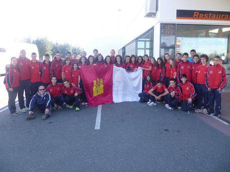 Castilla-La Mancha, subcampeona de España juvenil masculina de cross en La Coruña