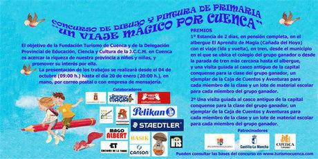 """Los componentes de la clase ganadora del primer premio del concurso """"Un viaje mágico por Cuenca"""" viajan al albergue """"El aprendiz de magia"""""""