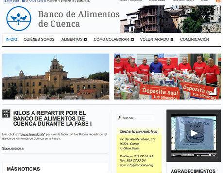 El Banco de Alimentos de Cuenca estrena nueva web