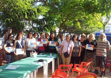 """Entrega de diplomas a las alumnas del """"Curso de Atención Sociosanitaria a personas dependientes"""""""