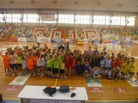 Fiesta final del balonmano escolar de Cuenca