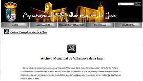 El Archivo Municipal de Villanueva de la Jara en la red