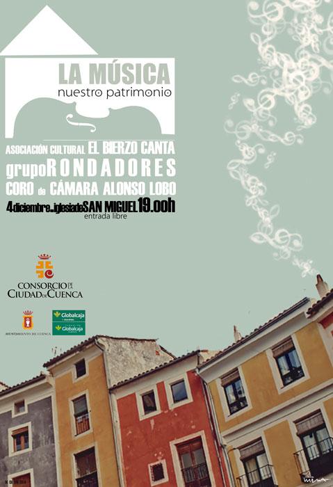 La Música, nuestro patrimonio, concierto para este domingo en la Iglesia de San Miguel