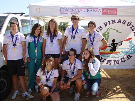 Magníficos resultados del Club Piragüismo Cuenca con Carácter en la Regata Internacional Canal de Castilla