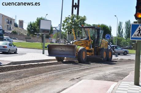 Este viernes han comenzado obras de bacheo en varias calles de la capital incluidas en el POS