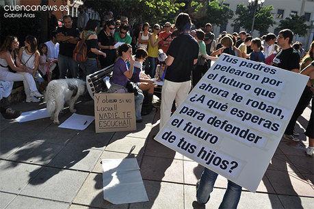 Jóvenes de CCOO de Cuenca apoya las movilizaciones surgidas desde el 15-M