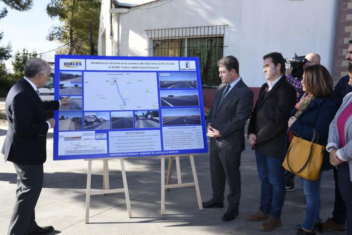 La Junta ha invertido en carreteras en la provincia de Cuenca más del doble que el anterior Ejecutivo durante toda su legislatura en toda Castilla-La Mancha