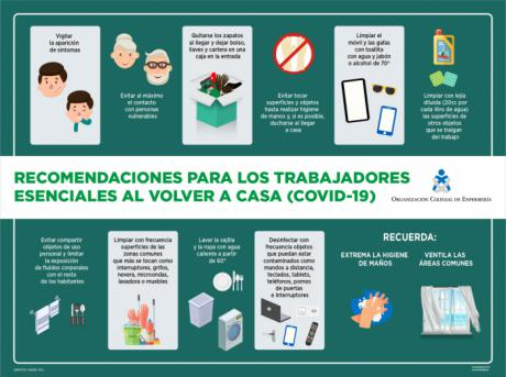 Pasos que debemos seguir los trabajadores esenciales al volver a casa para evitar posibles contagios entre sus familiares