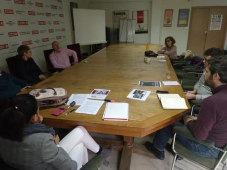 IU y CCOO analizan la situación política, económica y social de la provincia