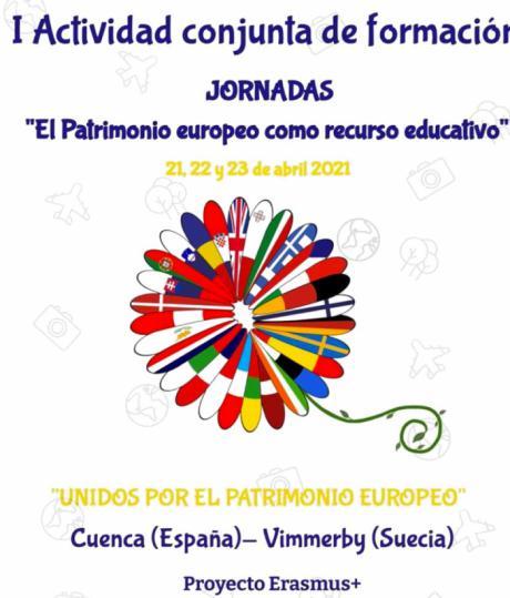 """""""El Patrimonio Europeo como recurso educativo"""" jornadas formativas celebradas en el IES Alfonso VIII bajo el marco Erasmus"""