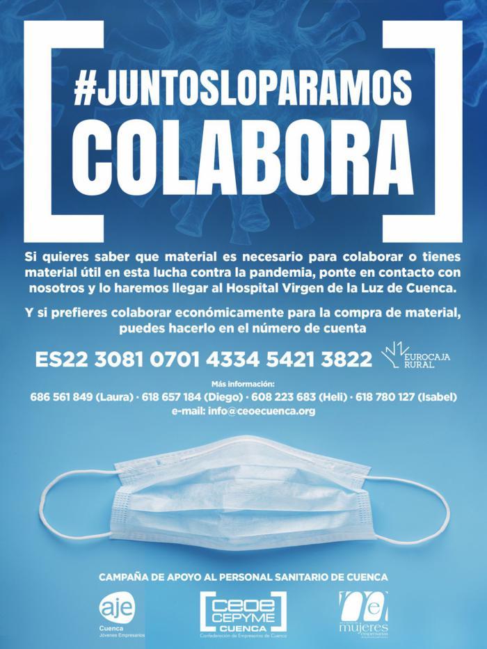 La Confederación de Empresarios lanza una campaña para colaborar en la adquisición de material durante la crisis del coronavirus