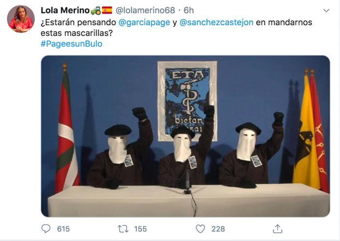 El PSOE exige a la portavoz PP retire el 'miserable' tuit sobre ETA, Sánchez y Page