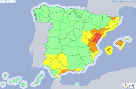 La Serranía de Cuenca, en alerta amarilla por lluvias fuertes y persistentes