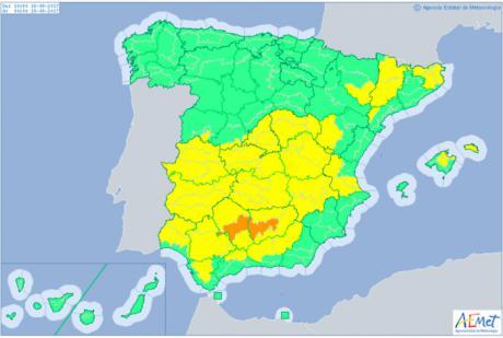 Alerta por calor en Albacete, Ciudad Real y Toledo