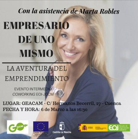 La periodista Marta Robles será protagonista el martes 6 en un encuentro diseñado para emprendedores
