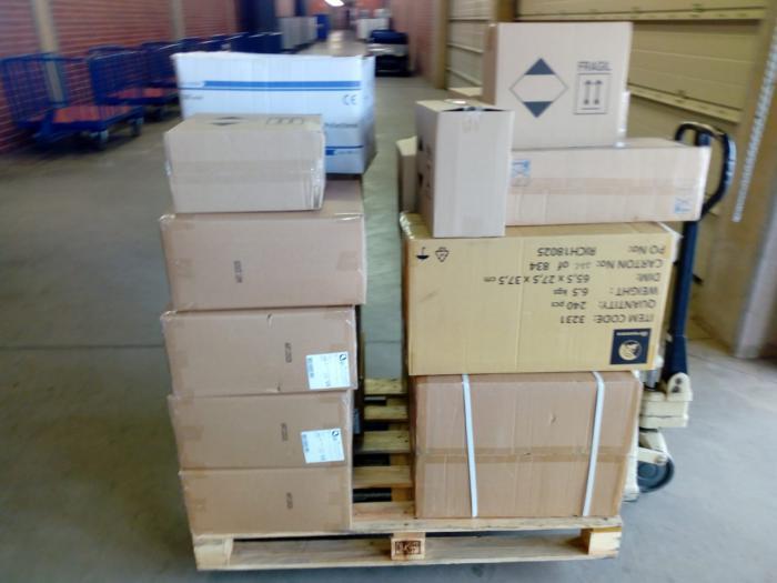 Nuevo envío de material a las seis gerencias de atención integrada del SESCAM de Ciudad Real