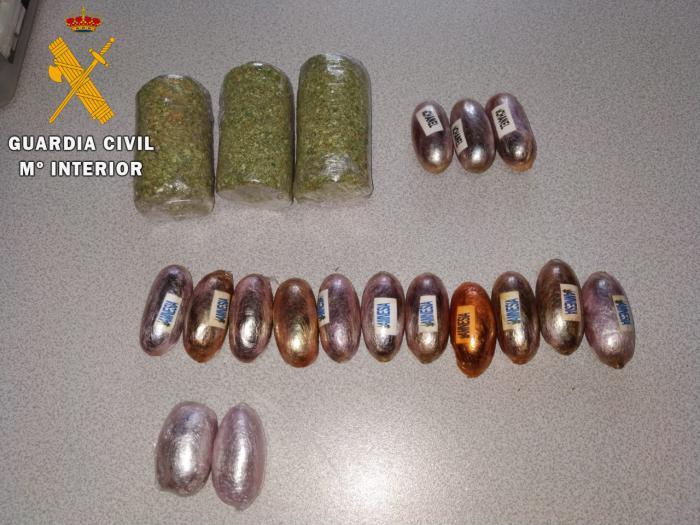 La Guardia Civil ha detenido a un hombre por intentar introducir droga en un penal
