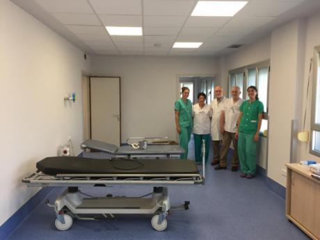 Las obras realizadas en el Servicio de Digestivo del Virgen de la Luz permitirán ampliar la actividad de la Unidad de Endoscopias
